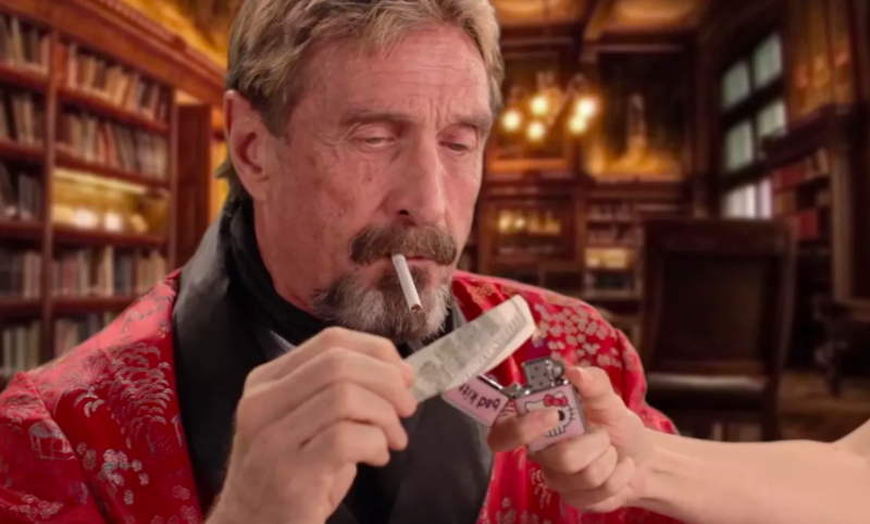 John McAfee Cryptocurrency Candidate